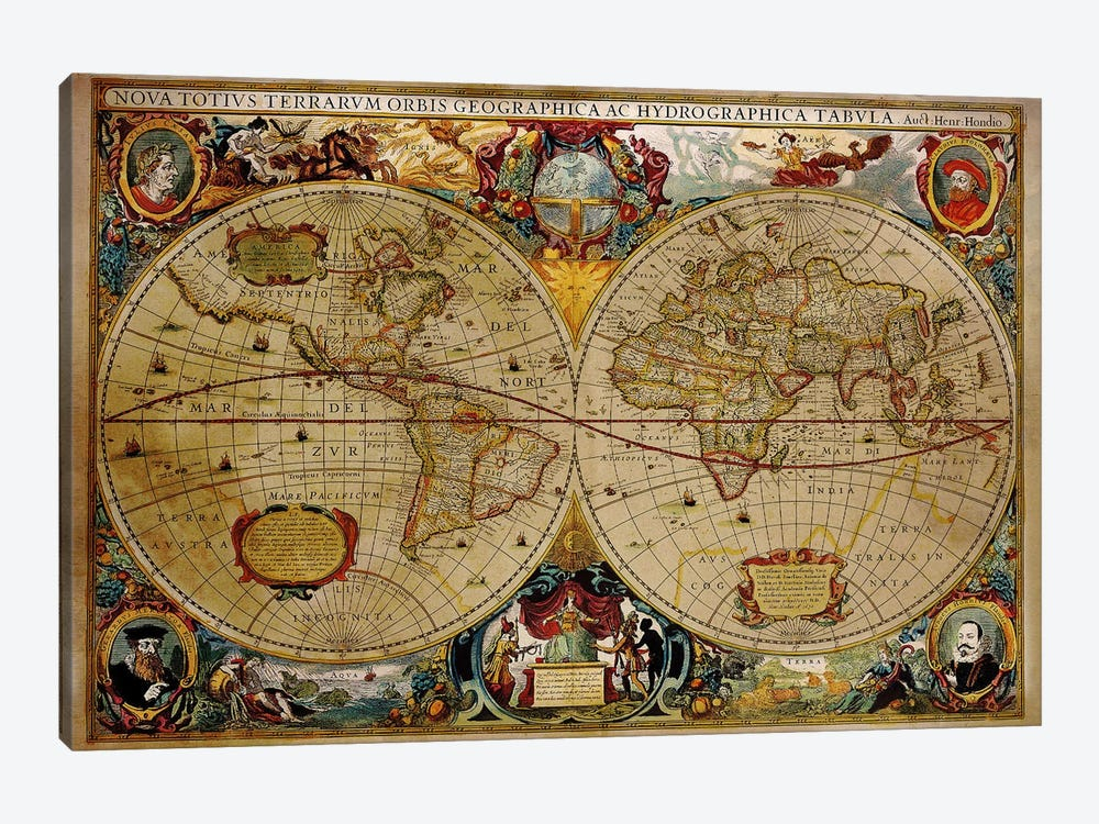 Victorian Geographica by Unknown Artist 1-piece Canvas Art