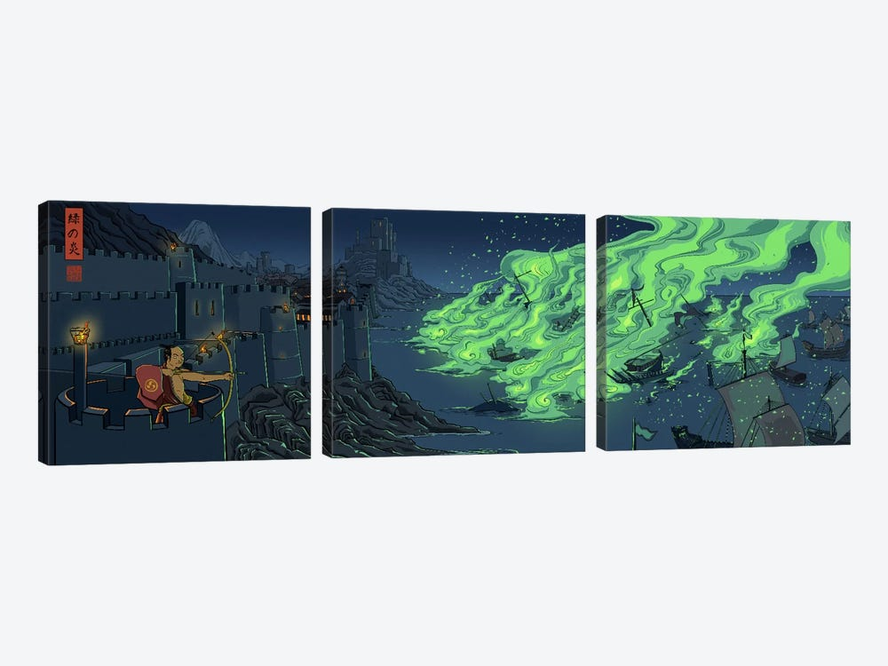 Greenfire by 5by5collective 3-piece Canvas Wall Art