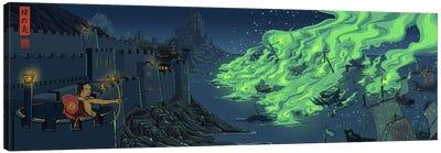 Greenfire Canvas Art Print