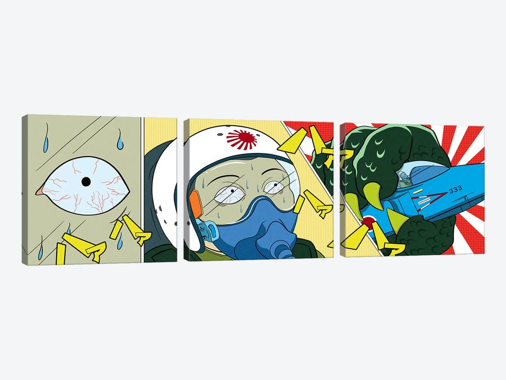 Final Moments by 5by5collective 3-piece Canvas Wall Art
