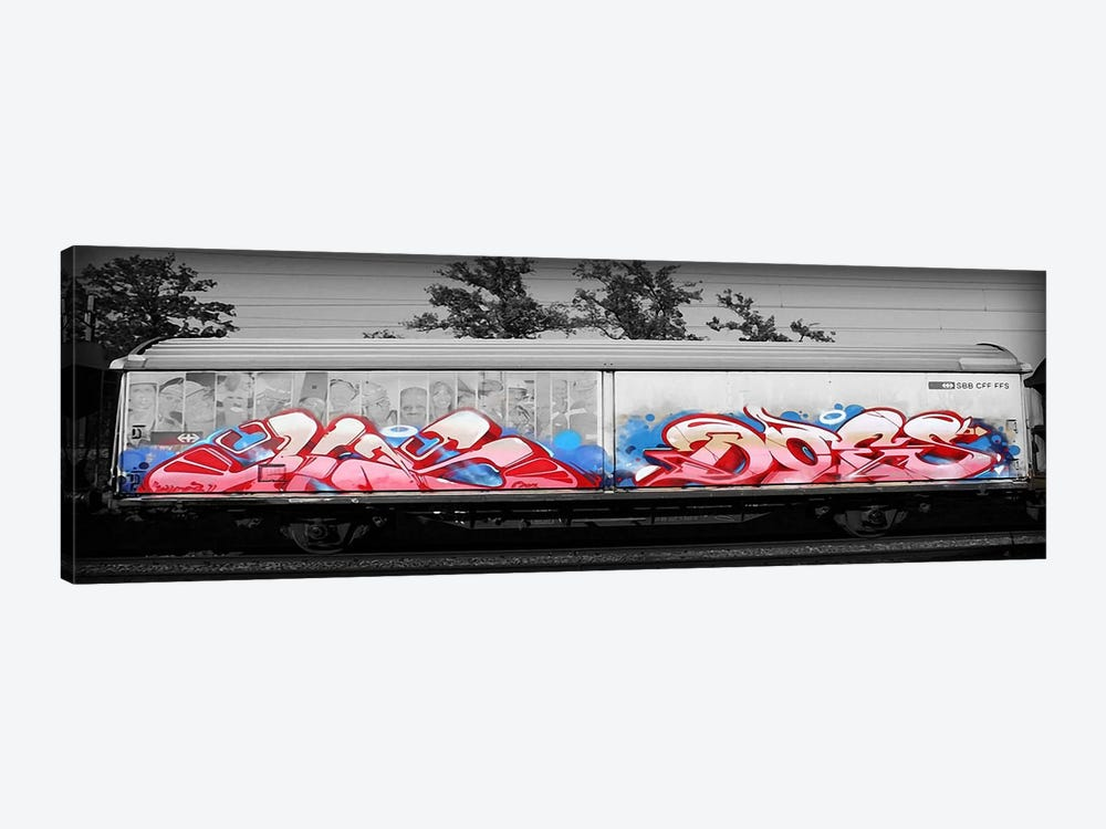 Graffiti Bomb by 5by5collective 1-piece Canvas Print