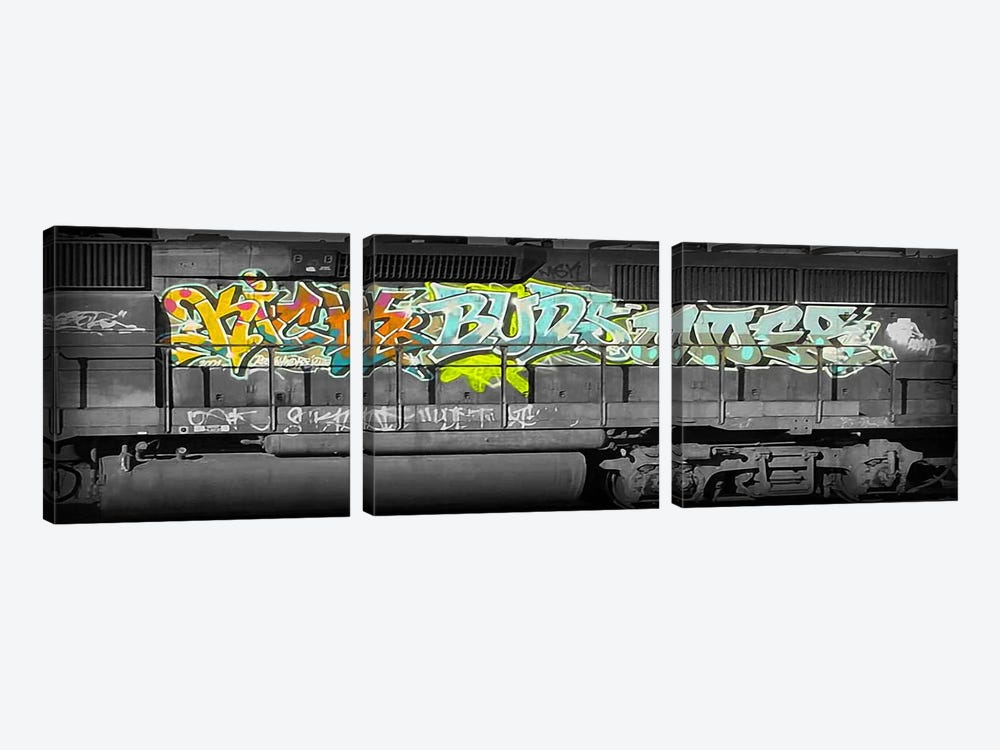 Buddy Train by 5by5collective 3-piece Canvas Art