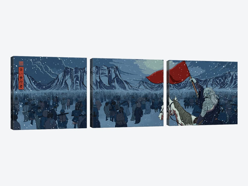 White Walkers by 5by5collective 3-piece Canvas Wall Art