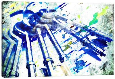 Acid Wash Bagpipe Canvas Art Print
