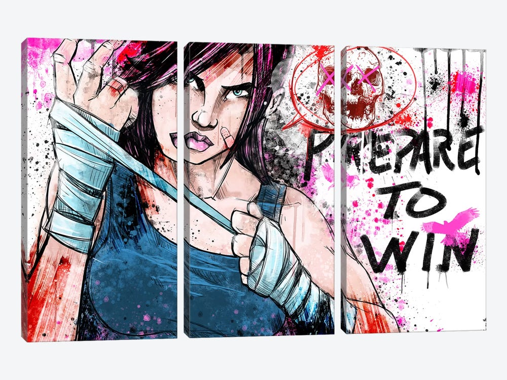 Prepare to Win by iCanvas 3-piece Canvas Artwork