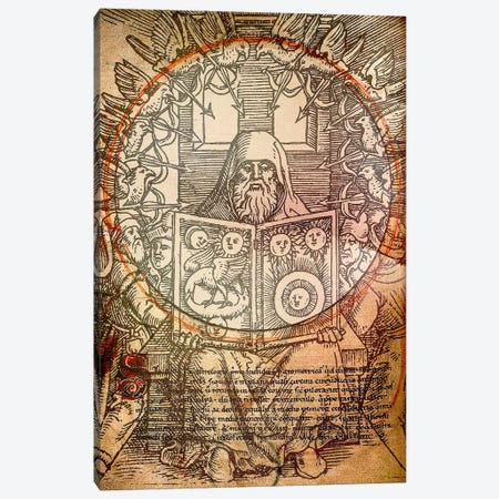 The Book of Alchemy Canvas Print #ICA1347} by Unknown Artist Canvas Art Print