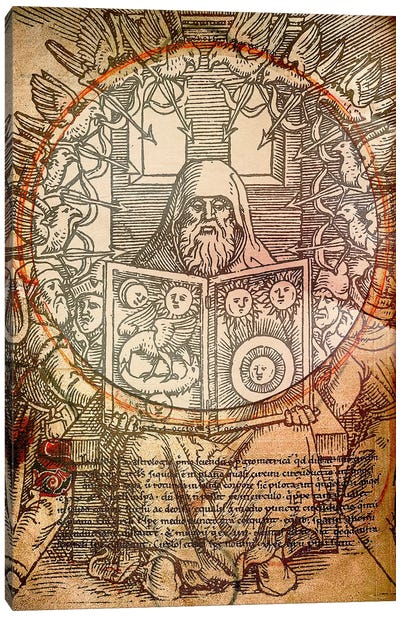 The Book of Alchemy Canvas Art Print