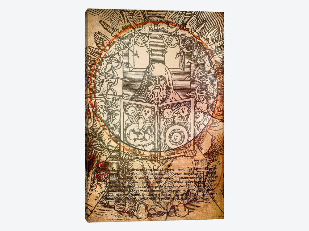 The Book of Alchemy by Unknown Artist 1-piece Canvas Art