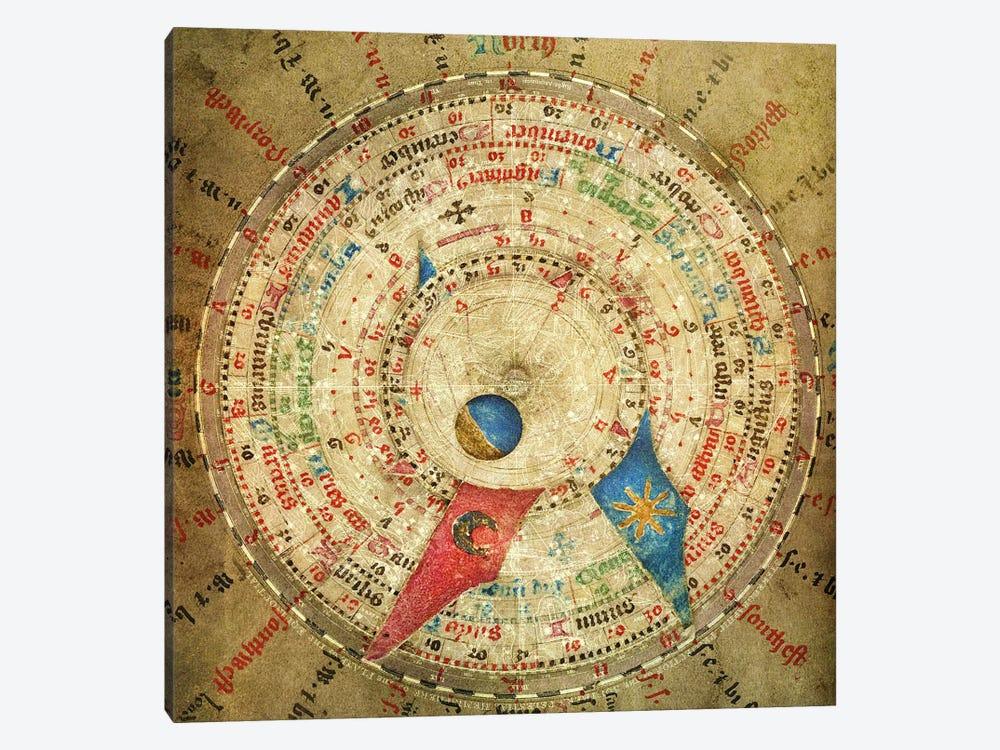 Alchemic Compass by Unknown Artist 1-piece Canvas Art
