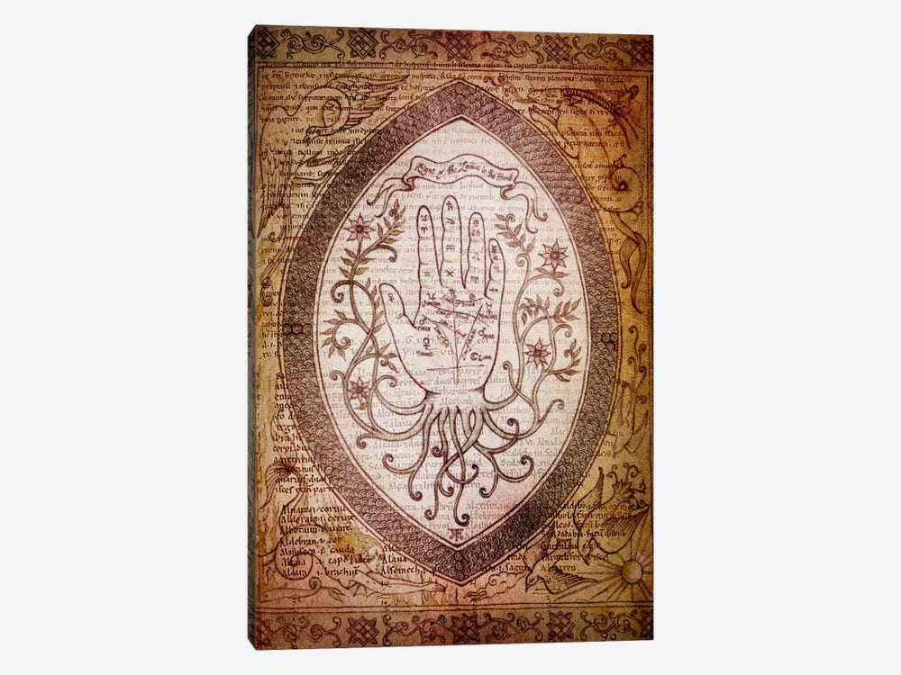 Victorian Palmistry by Unknown Artist 1-piece Canvas Art