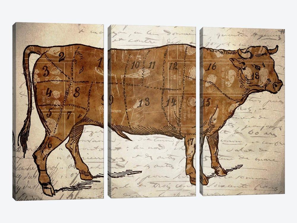Le Boeuf III by Unknown Artist 3-piece Canvas Artwork