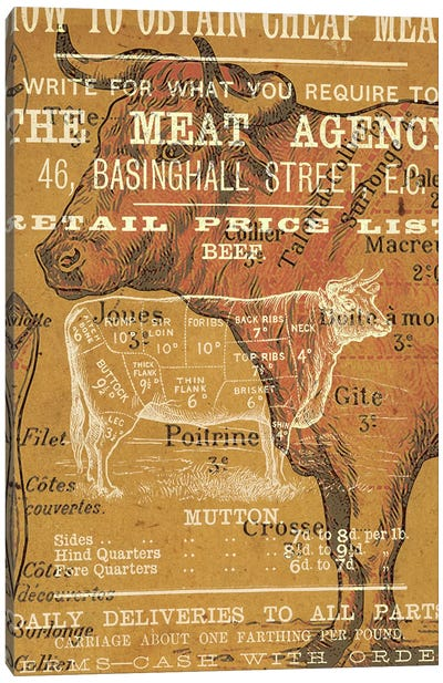 The Meat Agency Canvas Art Print