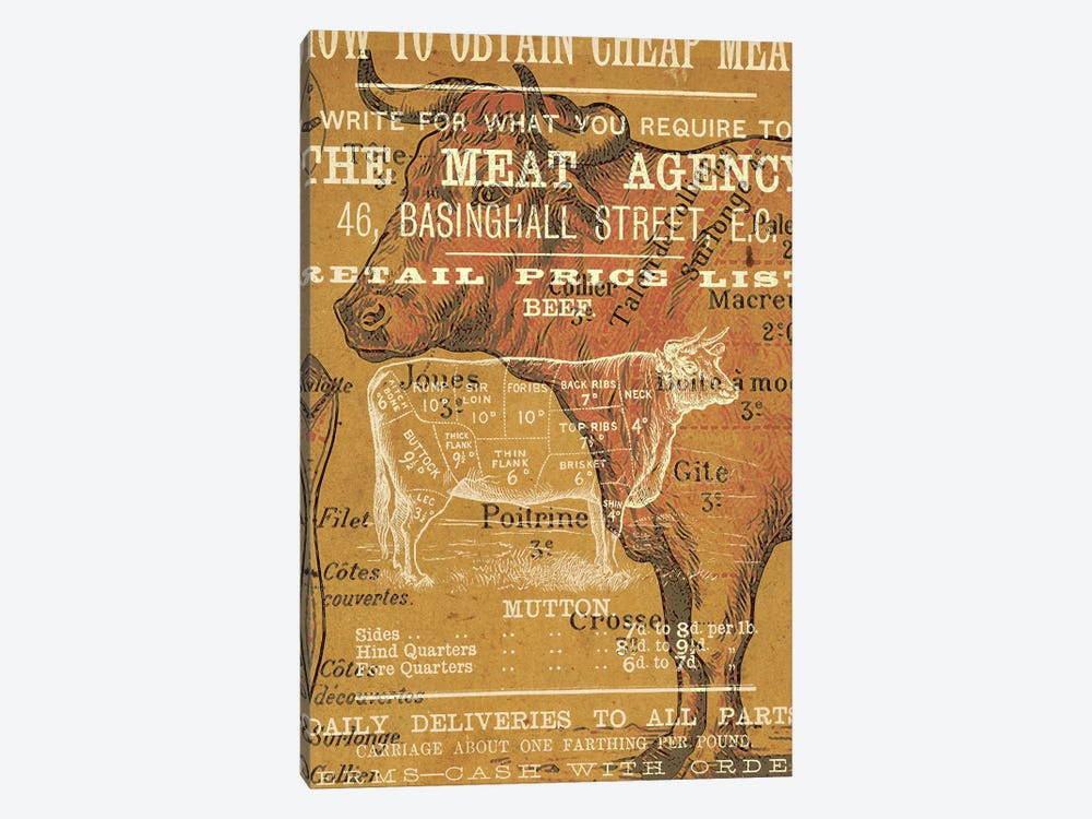 The Meat Agency by Unknown Artist 1-piece Canvas Artwork