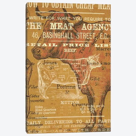 The Meat Agency Canvas Print #ICA1363} by Unknown Artist Canvas Wall Art
