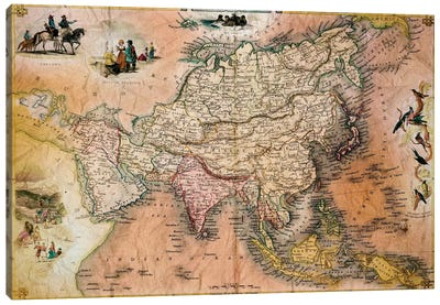 Antique Map #1 Canvas Print #ICA1364