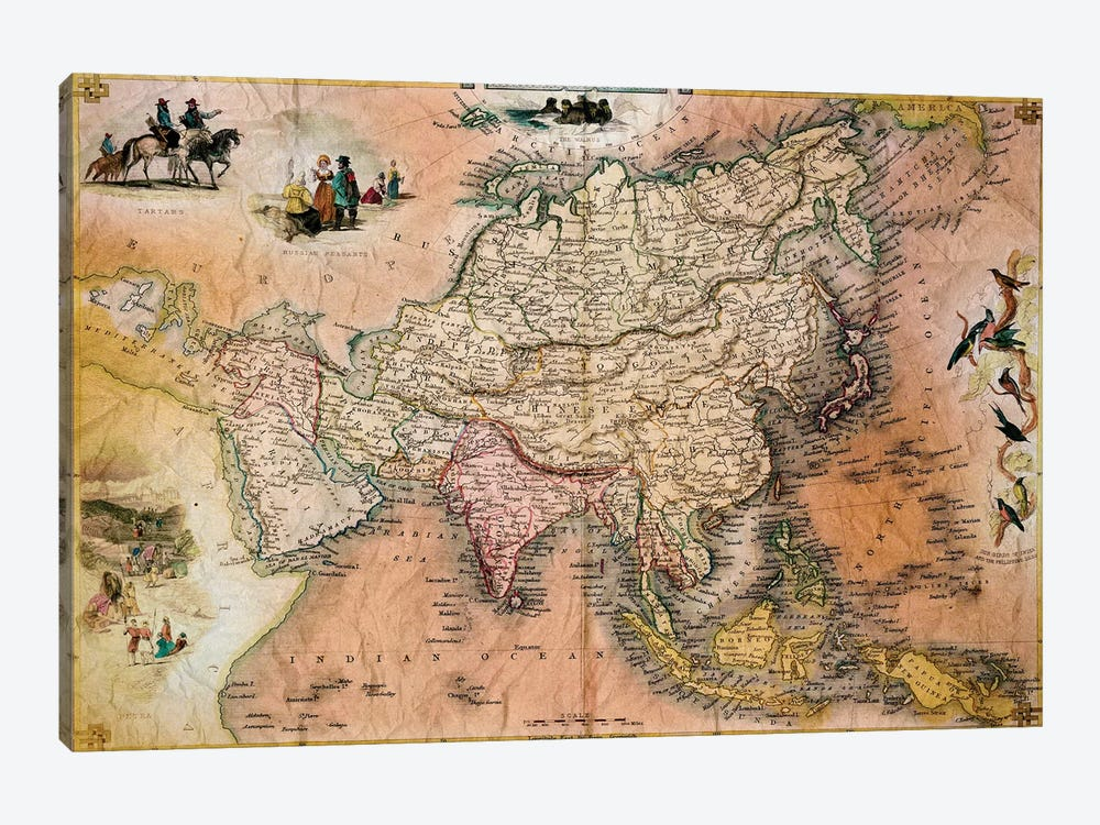 Antique Map #1 by Unknown Artist 1-piece Art Print