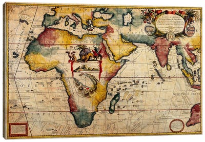 Antique Map #2 Canvas Art Print