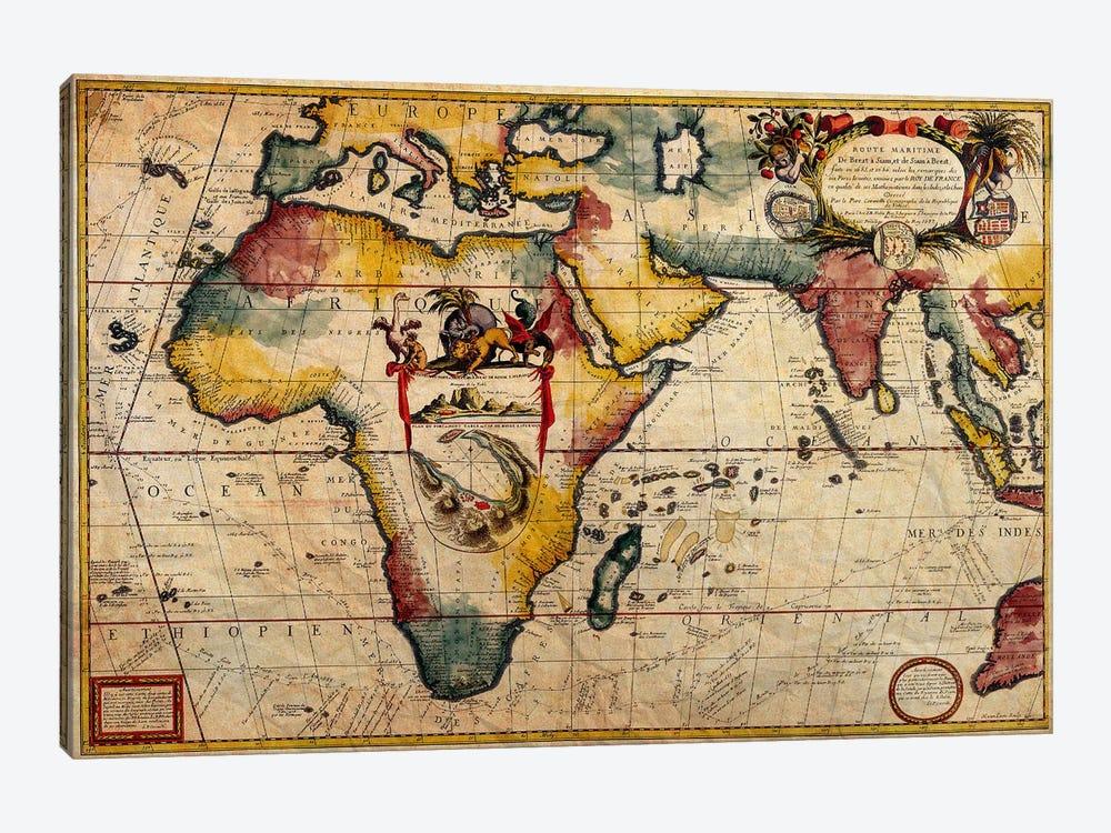 Antique Map #2 by Unknown Artist 1-piece Canvas Print