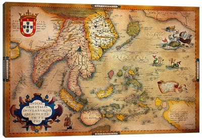 Antique Map #3 Canvas Art Print