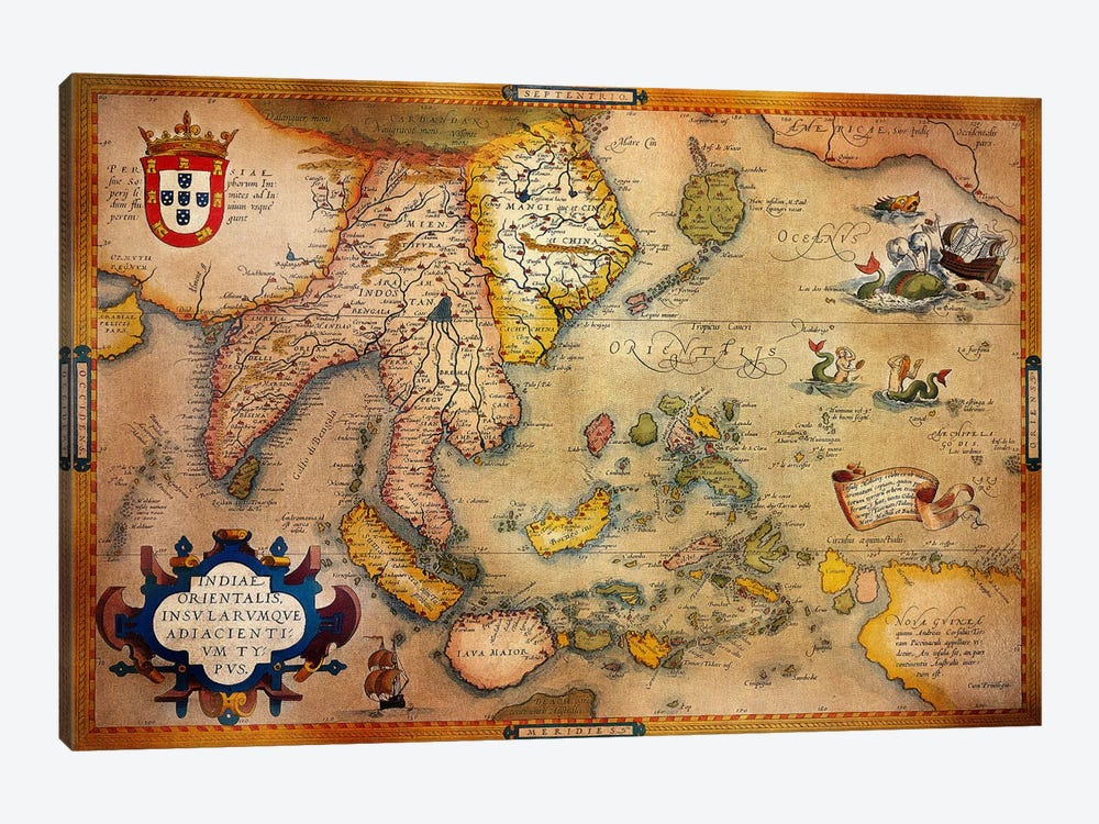 Antique Map #3 by iCanvas 1-piece Canvas Wall Art