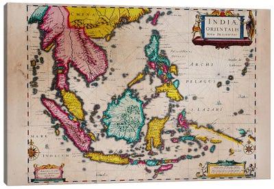 Antique Map #4 Canvas Art Print