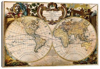 Mappe Monde Nouvelle Canvas Art Print