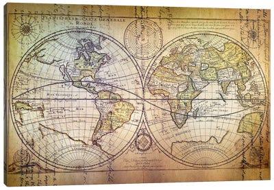 Planisphere Carte Canvas Art Print
