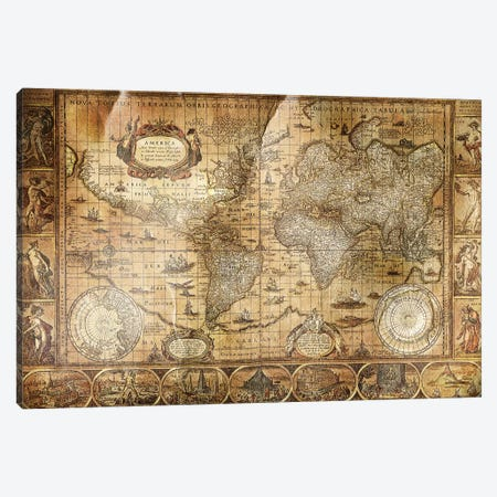 Terrarum Orbis Canvas Print #ICA1371} by Unknown Artist Canvas Print
