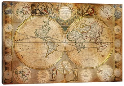 Antique Map #5 Canvas Art Print
