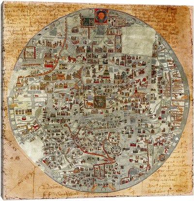 Antique Map #6 Canvas Art Print