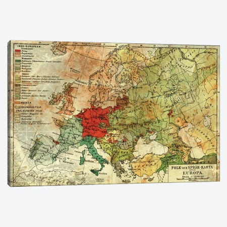Europa Karta Canvas Print #ICA1375} by iCanvas Canvas Art