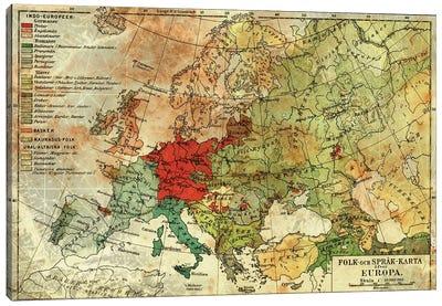 Europa Karta Canvas Art Print