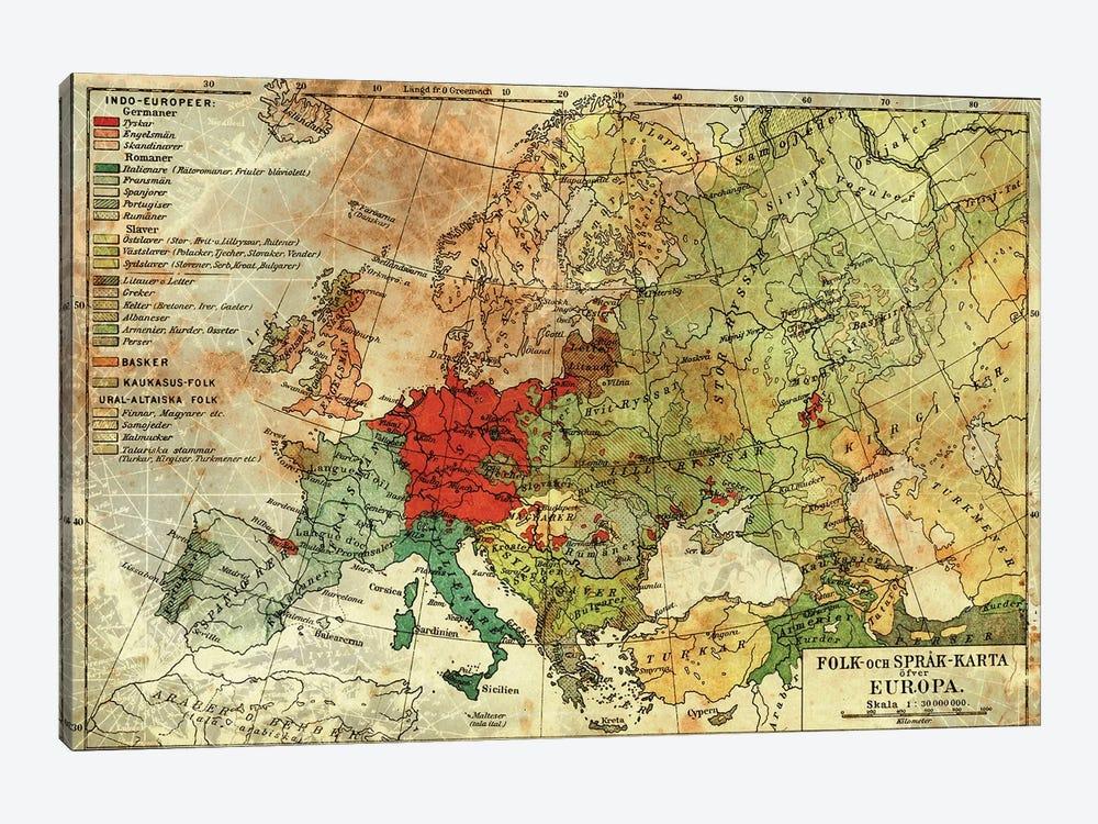 Europa Karta by Unknown Artist 1-piece Art Print