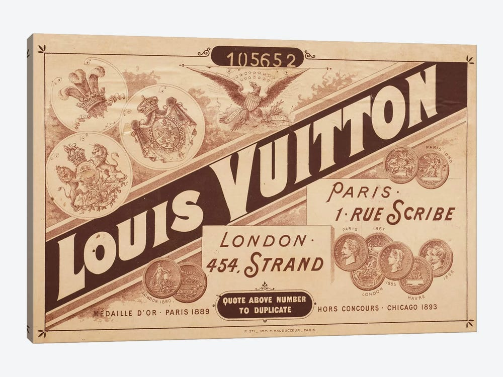 Vintage Louis Vuitton Advertisement 2 by 5by5collective 1-piece Canvas Print