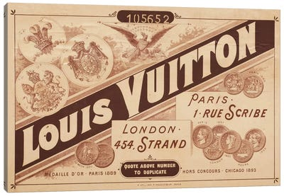 Vintage Louis Vuitton Advertisement 2 Canvas Art Print