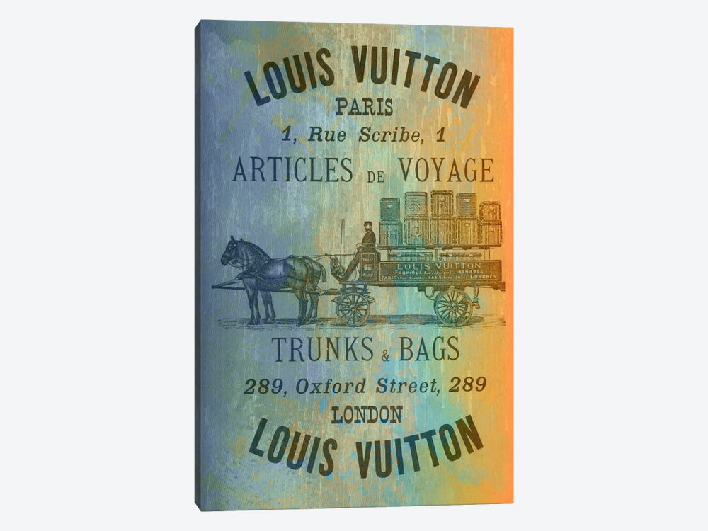 Vintage Woodgrain Louis Vuitton Sign 2 by 5by5collective 1-piece Canvas Wall Art