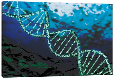 Music is the DNA Canvas Print #ICA13