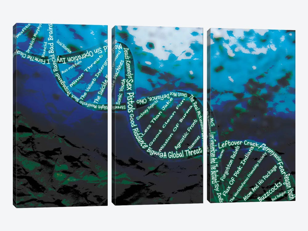 Music is the DNA by Unknown Artist 3-piece Canvas Art