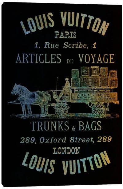 Vintage Woodgrain Louis Vuitton Sign 4 Canvas Print #ICA140