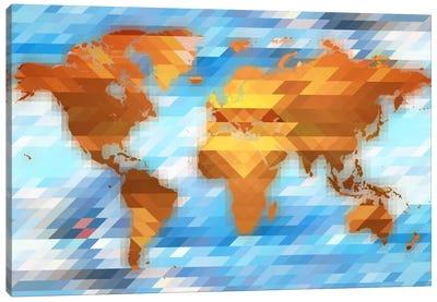 Earth Polygon Map Canvas Print #ICA148