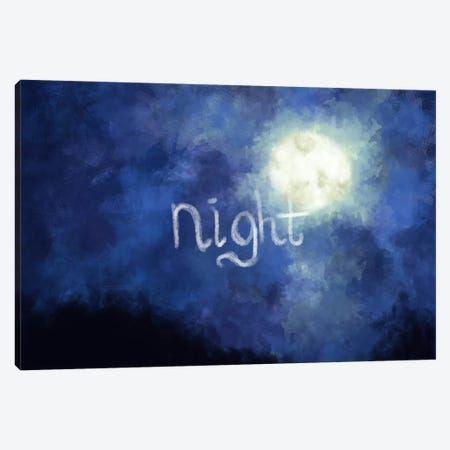 Night Sky Canvas Print #ICA150} by Unknown Artist Canvas Artwork