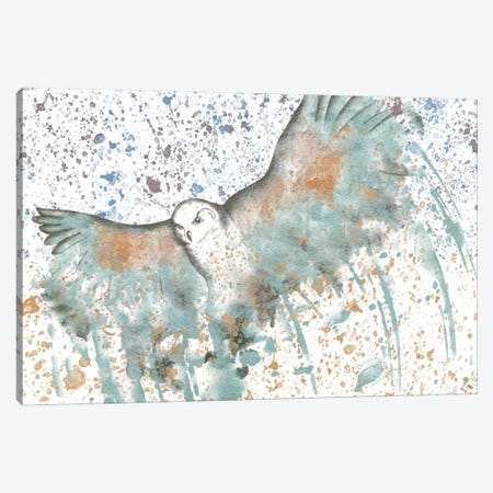 Owl Watercolor Canvas Print #ICA152} by iCanvas Canvas Art