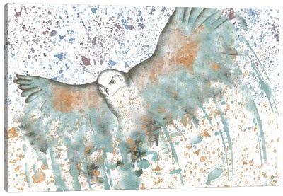 Owl Watercolor Canvas Print #ICA152
