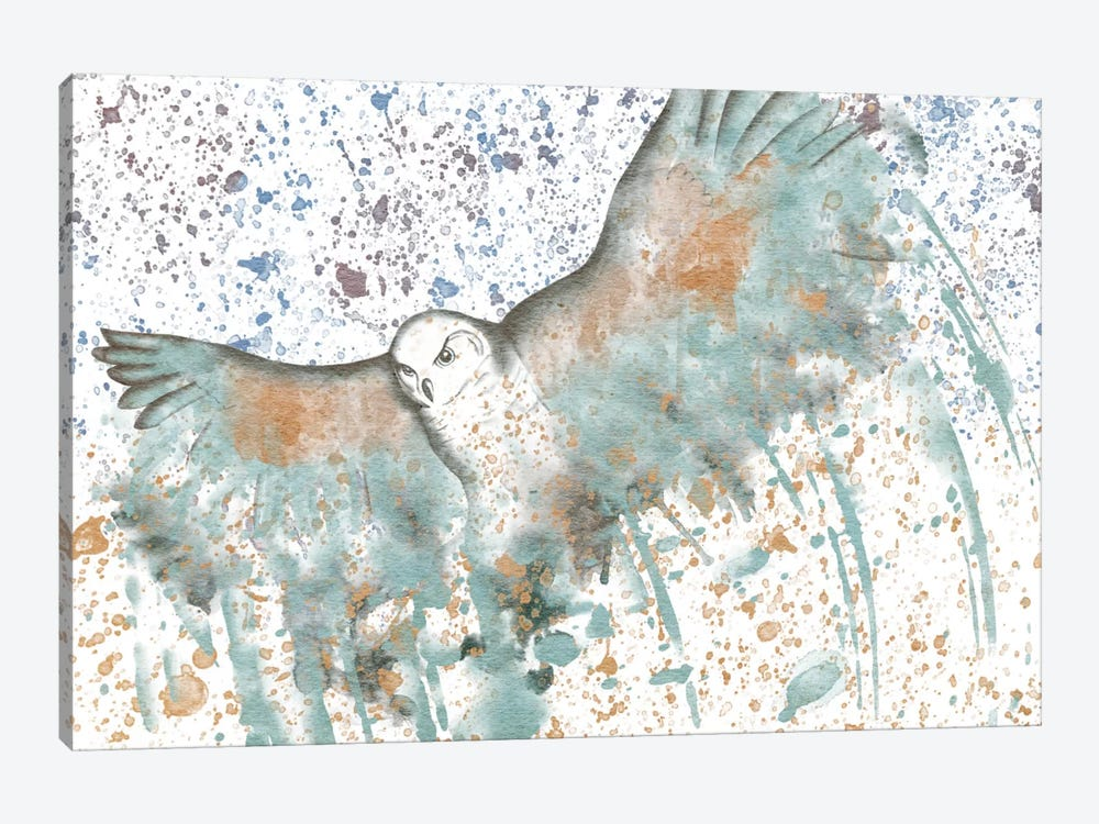 Owl Watercolor 1-piece Canvas Art
