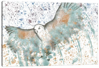 Owl Watercolor Canvas Art Print