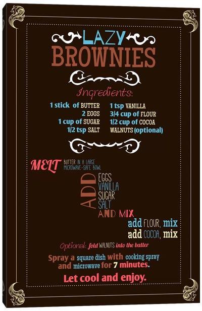 Lazy Brownie Recipe Canvas Print #ICA163