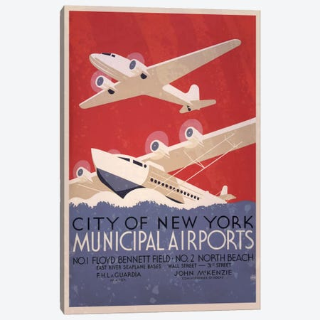 City of New York Minicipal Airports Canvas Print #ICA168} by Unknown Artist Canvas Print