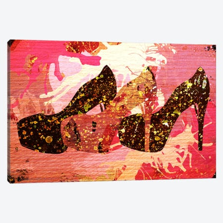 Woodgrain Pumps Canvas Print #ICA171} by 5by5collective Canvas Artwork