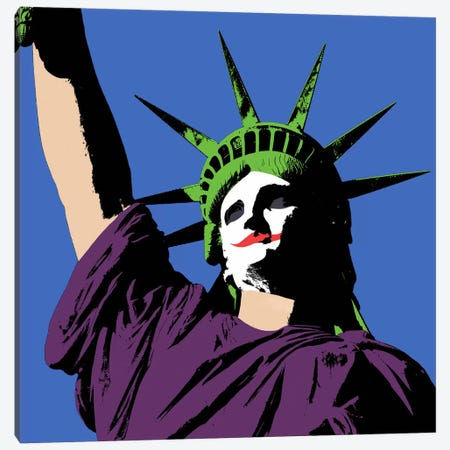 Joker Lady Liberty Canvas Print #ICA173} by Unknown Artist Canvas Artwork