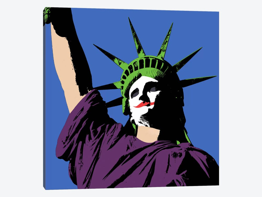 Joker Lady Liberty by Unknown Artist 1-piece Art Print